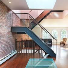 ideas large glass window and cable wire railings exposed brick wall