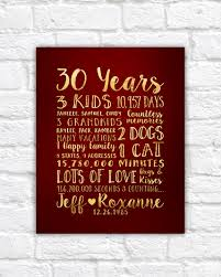 30th anniversary gift christmas best 30th anniversary gifts for happy couples