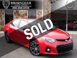 lexus used birmingham 2014 used toyota corolla 4dr sedan cvt s premium at birmingham