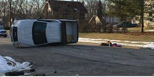 middletown crash includes truck rolled over and on its side