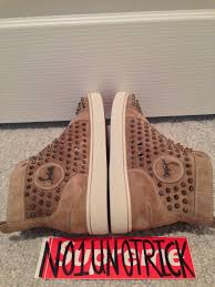 authentic christian louboutin louis flat spikes high top sneaker