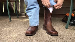 ariat rambler wide square toe western cowboy boots youtube