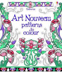 usborne art nouveau patterns colour fruehlingsdeko