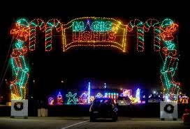drive by christmas lights photos christmas lights brighten the night at auto club speedway in