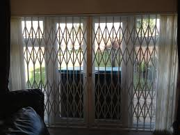 Patio Door Security Shutters Rsg1000 Retractable Patio Door Security Grilles Fitted To A