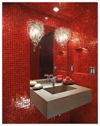 bathroom 2017 very modern lighting fixtures red tiles wall