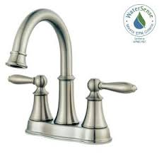 Brushed Nickel Bathroom Faucets by Delta Southlake 4 In Centerset 2 Handle Bathroom Faucet In