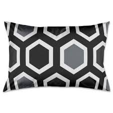 buy pillow shams black and grey from bed bath u0026 beyond