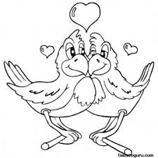 love coloring pages printable free printable valentines day two birds are in love coloring page