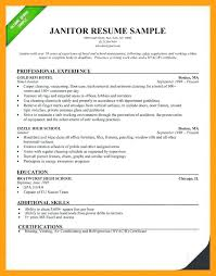 resume templates janitorial supervisor memeachu sle custodian resume