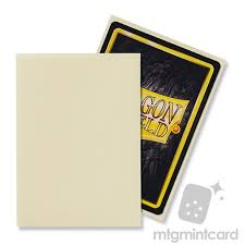 dragon shield 100 standard deck protector sleeves matte ivory