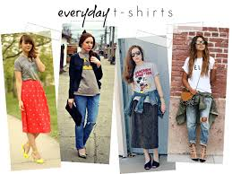 super easy ways to wear graphic t shirts