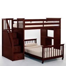 ne kids schoolhouse stairway loft bed cherry hayneedle