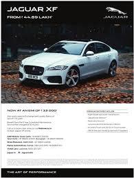 car advertisement jaguar xf car starts from44 lakhs ad advert gallery