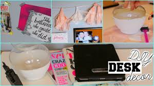 Diy Desk Decor Diy Pinterest Inspired Desk Decor Organization Tips Kenzie