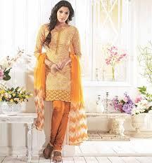 orange cotton dress material rtzob2916a online shopping india