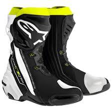 white motorbike boots alpinestars supertech r yellow black white motorcycle boots eu