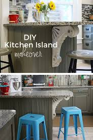 Kitchen Island Corbels Diy Kitchen Island Makeover Robb Restyle