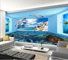 Home Decor Designers Custom Any Size Wall Papers Home Decor Designers 3d Sea View Room