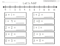 kindergarten number lines best ideas of number line addition worksheets grade 1 on form