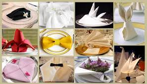 how to fold napkins for a wedding stylish wedding napkin folds table linens for less