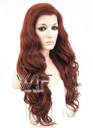 light reddish brown color 24 wavy light reddish brown lace front synthetic wig lf132 wig is