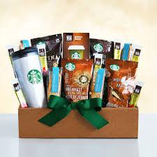 coffee gift basket starbucks favorite gift tower basket hayneedle