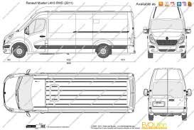 renault master 2015 the blueprints com vector drawing renault master l4h3 rwd
