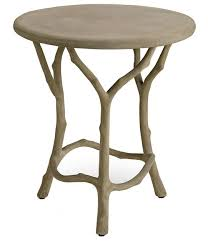 faux bois side table hedley faux bois side table mecox gardens