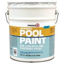 zinsser 5 gal blue flat oil based swimming pool paint 260542