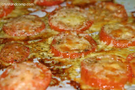 tomato recipes roasted cheesy tomato side