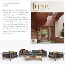 teak warehouse outdoor furniture featured in press
