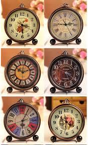 vintage aralm clock table desk wall clock retro rural style