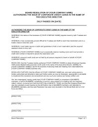 certificate of corporate resolution template u0026 sample form