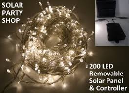 200 led solar lights warm white 24 5m solar shop