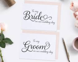 Card From Bride To Groom On Wedding Day Wedding Greeting Cards Etsy Il