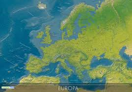 map euope european countries physical map