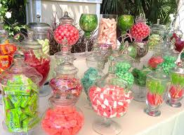 tlc lexus san diego wedding sweetness pink red green candy station at the tropical