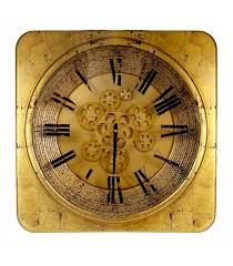Grande Horloge Murale Carrée En Bois Vintage Achat Grande Horloge Murale Ronde En Métal Noir Style Industriel