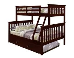 bedroom design brown twin over full bunk bed with trundle and