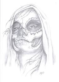 tattoo day of the dead gypsy design pencil art by desjnr on