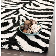 Black And White Zebra Area Rug Safavieh Eleanor Shag Area Rug Or Runner Walmart Com