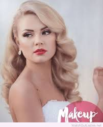 hair and makeup vintage beautiful blonde hair and makeup for the wedding day peinados