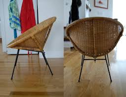 pieces of anna bargain hunting 1960 u0027s round wicker chair