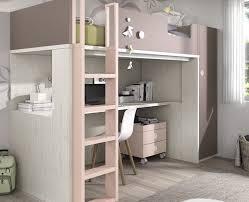 lits mezzanine avec bureau surprenant lit mezzanine avec bureau couchage 90x200 cm