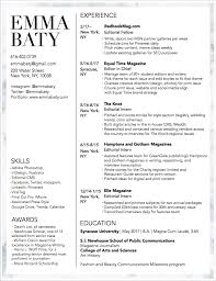 Resume Photo Editor Resume U2014 Emma Baty