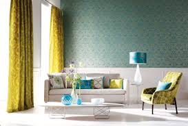 yellow and teal curtain styles for living rooms zen theme