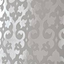 suzie wallpaper gothic flock foil wallpaper white 0 00