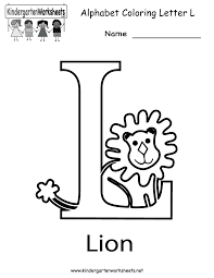 worksheet letter l worksheets mifirental free printables