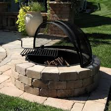 Outdoor Fireplace With Cooking Grill by Rockwood Fire Ring With Cooking Grate Material To Build Fire Pit